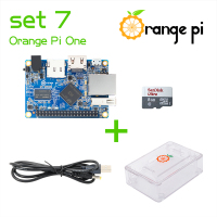 Orange Pi One SET7: Pi One+ Transparent ABS Case+ Power Cable + 8GB Class 10 Micro SD Card Beyond Raspberry
