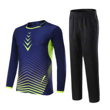 Winter Autumn Breathable Men/Women Sports Long Sleeve Soccer Jersey Sets Uniforms Badminton Suit Tennis Shirt+Pants Quick Dry(China)