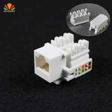 10pcs CAT5E UTP network module Tool-free RJ45 connector Information socket Computer Outlet cable adapter Keystone Jack FOR AMP