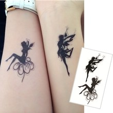 Double Angel Tattoo Sticker Waterproof refers to the temporary body tattoo sticker art