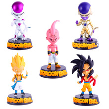 1pcs/set 15cm Five Optional Dragon Ball Z Action Figures Super Saiya PVC Anime Figure Toys Model Toy Doll Figures Car decoration