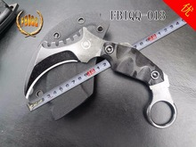 VOLTRON outdoor tactical high hardness straight knife, wild survival knife, wilderness self-defense carry karambit knife