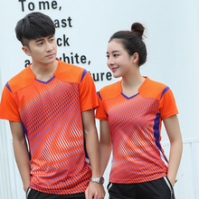Free Custom Badminton t shirt Men/Women's , sports badminton clothes ,Table Tennis t shirt , Tennis wear shirt AY006(China)