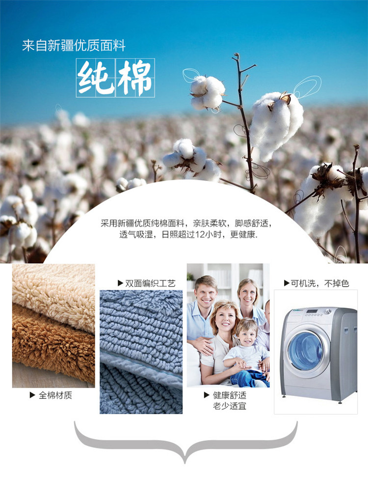 Double Suction Pad Thickening Chenille Doormat Kitchen Toilet Bathroom Rug  With Thick Living Room Carpet   Us595