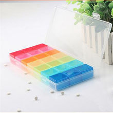 New 7 Day Pill Mini Tablet Holder Medicine Dispenser Organizers Case With 21 Compartments Pillbox Travel Portable Storage Box