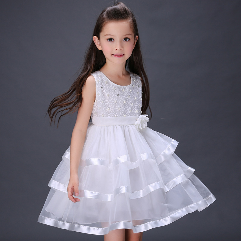 Kindstraum 2017 New Arrival Children Pearl Dress Princess Wedding Partty Wear Top Quality Solid Ball Gown for Kids,RC466<br><br>Aliexpress