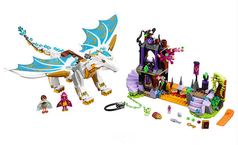 Bela Elves 10550 White Dragon The Elf Series Of Long After The Rescue Cction Blocks With 41179 Girls Assembled Block Toys<br>