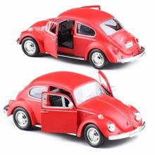 RMZ City Diecast Red 1/32 Volkswagen Beetle 1967 Classic Car Pull Bakc Collection Hobbies Model Toy Kids Gift Freeshipping