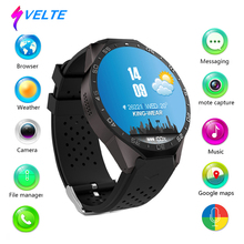 Svelte KW88 Smart Watch Android MTK6580 Quad Core Bluetooth GPS Camera Playstore 3G Wifi Heart Rate for Android Mobile Phone(China)