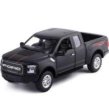 High Simulation 1:32 Ford F150 Pickup Truck Alloy Car Model Metal Diecasts Toy Vehicles Pull Back Flashing Sound For Kids Toy(China)