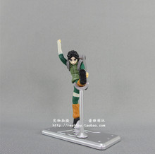 High Quality!!! Japanese Amine Mini Cute NARUTO Rock Lee 7cm PVC Action Figure Model Collection Toys Gift