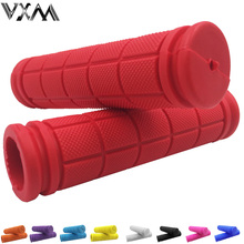 VXM Bicycle Handlebar Grips Cycling BMX /Road/ Mountain Bike Handles Soft Rubber Handle Bar Handle Grips 10 Colors Bicycle Parts(China)