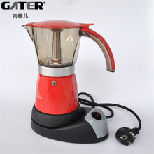 GATER 6 cups Electric Coffee Maker Filter Coffee Pot Electric Moka Kitchen Coffee Filter Tools Mocha Italian Espresso Machine(China)