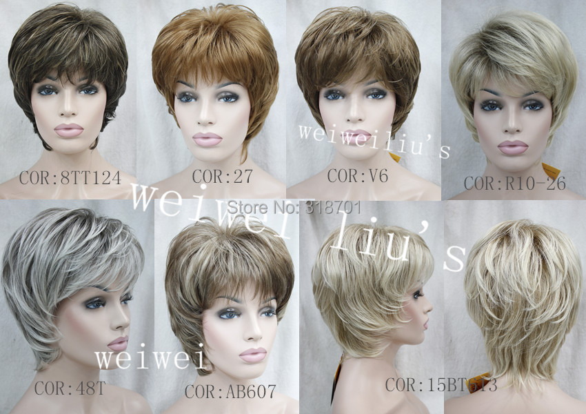 Unqiue Short Layered Short Synthetic Hair Wig many colors for you choose free shipping<br><br>Aliexpress