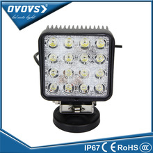 OVOVS auto car square factory price 4.2 inch truck part 48w led work light for truck tractor 4x4 ATV