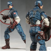 Hot 18cm marvel Toys Avengers Super Hero Captain America PVC Action Figure Collectible Model Toys Classic Toys For Children