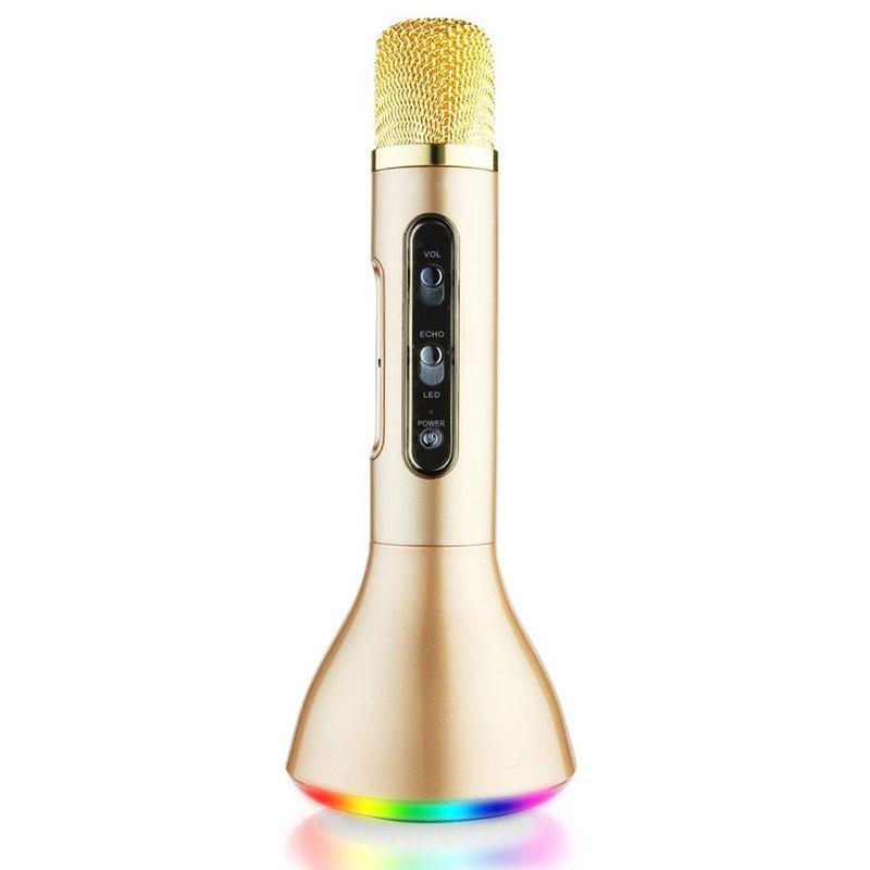 Wireless Microphone Karaoke BT Handheld KTV Mic Microphone Singing Record Professional Player Speaker for Smartphones PC