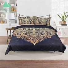 WAZIR Hot stamping serie Bohemia heart-shaped bedding set Wedding decoration Quilt cover Pillowcase bed sheet Bedroom bedclothes(China)