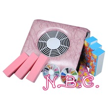 Pink Electrilc Nail Dust Suction Collector Manicure Machine Nail File Block Buffer File Nail Art Equipment Manicure Tools Kit(China)