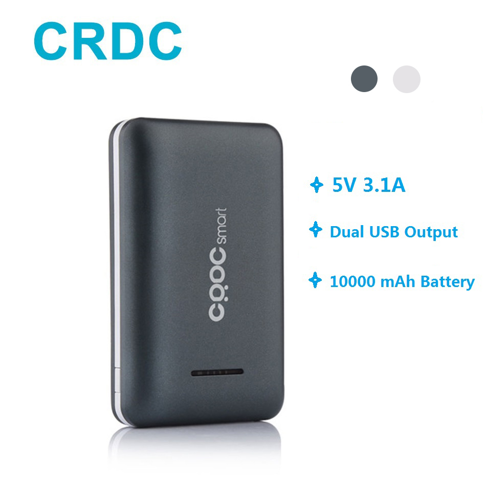 Power Bank CRDC 10000mAh Poverbank Ultra Slim Bateria Externa Xiaomi Mi Etc Mobile Phone Portable Quick Charging Accumulator