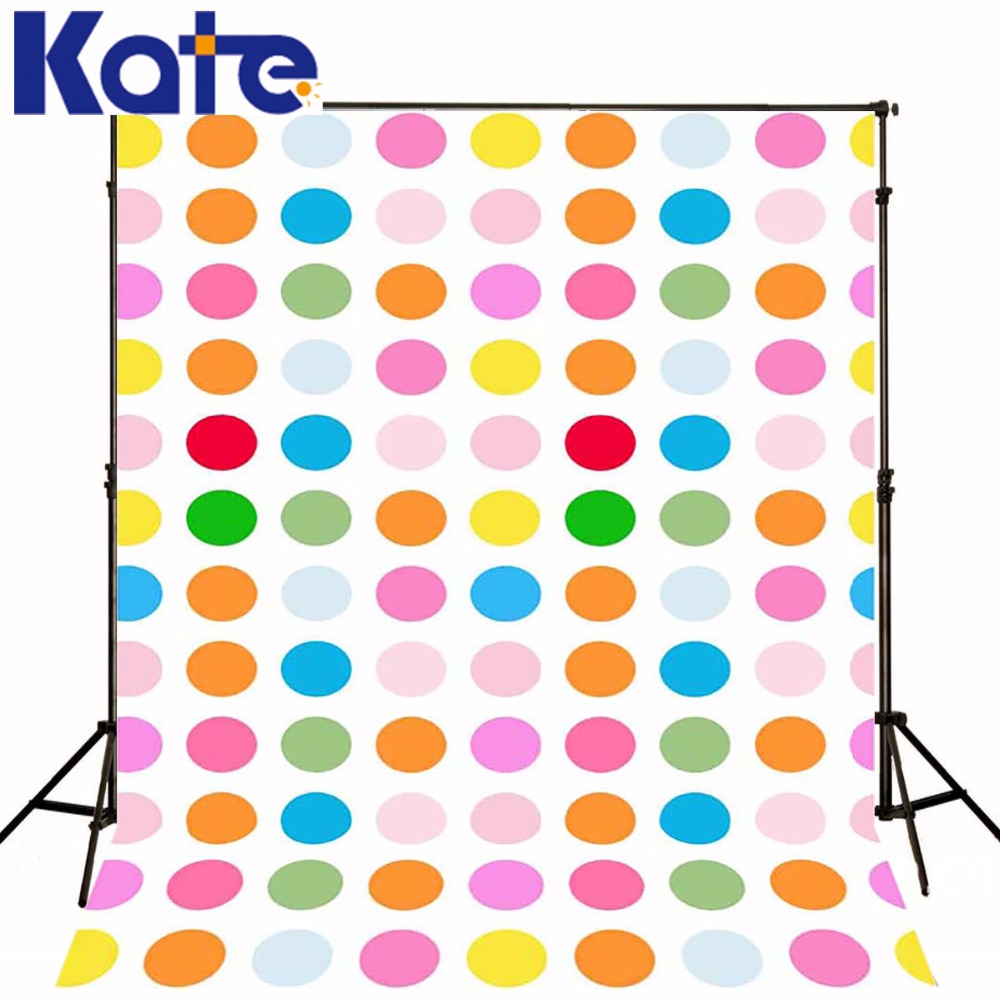 Kate Children Theme Photography Backdrop Fundo Fotografico Newborn Retro Princess Colorful  Polka Dot Dress Background Fantasy<br>