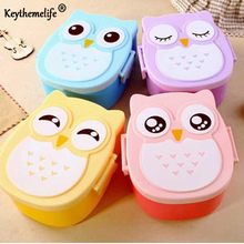 Keythemelife Cartoon Portable Leak Proof Lunch Boxs Microwave Non-slip Bento Food Container Storage Lunch Bowl for Kids Gift BA
