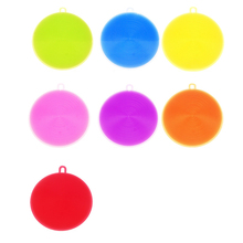 Hot Sale Silicone Kitchen Cleaner of Dish Washing Sponge Vegetable Scrubber Brush Non Stick Oil Sponge