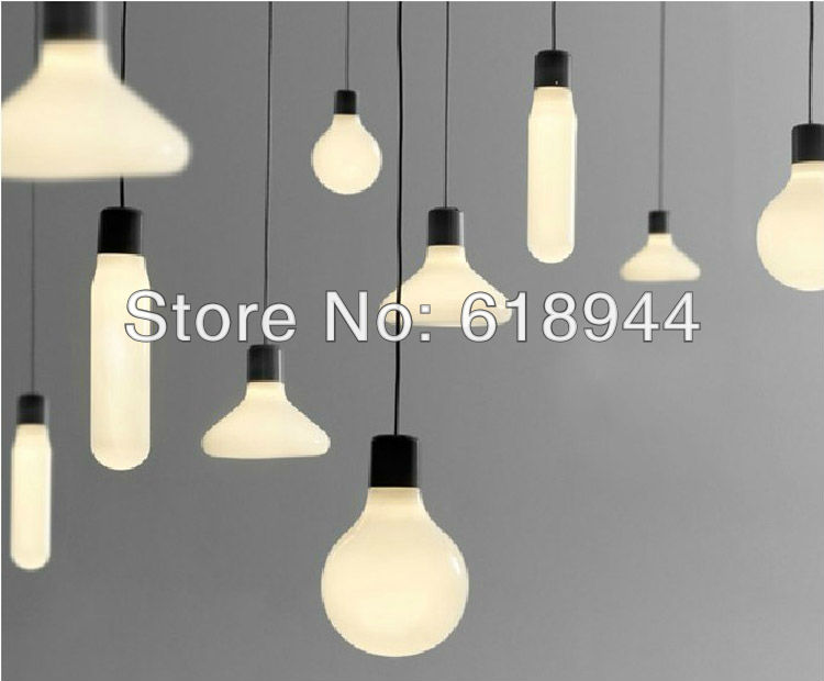 White Modern Glass Pendants Lights Restaurant  Hanging Bar Light Pendant Lighting Fixture Designer  Fashion Lamps with LED Bulb<br>