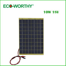 Hot *10 W epoxy-resin solar panel, 10w poly solar panel 12v+Diode, for charge 12v battery(China)