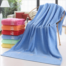 100% Cotton Thick Adult Bath Towel 70x140cm Rectangle Blue Towels Printed Beach Towel Hotel Home Supply High Quality