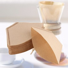 100Pcs/Bag Wooden Original Hand Drip Paper Coffee Filter Espresso Coffee Filters