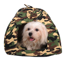 Pet  Dog Beds Camouflage Bed House Soft  Fabric Pet Cat Nest Pet Puppy Kitten Warm Resting Place Pet Kennel