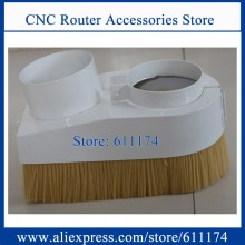 Half Open type Dust brush Dust collector Cover 80mm wood cnc spindle motor dust collector device D80mm