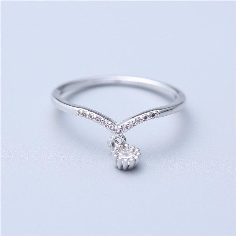 Crystal Pendant Rings