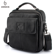 ZZNICK 2017 Men's Business Bag Brand Genuine Leather Men Messenger Crossbody Shoulder Travel Handbag - YIWU EAP Store store