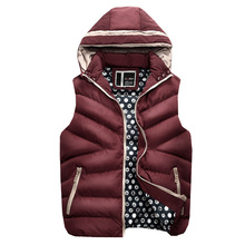 Ultra Light Mens Down Jacket 2017 Winter Sleeveless Ultra Thin Warm Coat Plus Size Male Hooded Goose Down Jacket Chaqueta Hombre(China)