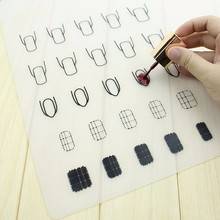 1Pc Silicone Nail Art Stamp Mat Decal Maker DIY Reverse Stamping Manicure New
