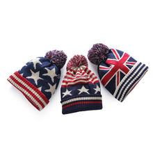 Cheap usa american flag Beanie hat wool winter warm knitted caps and hats for man and women Skullies cool Beanies wholesale(China)