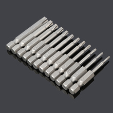 12pcs 50mm Installed 50mm SEALS St5-t40 Torx Magnetic Plum Batch Head Screwdriver Bit Hollow hole Batch of chrome vanadium steel(China)