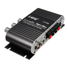 LEPY MINI CAR HOME STEREO HI FI AMPLIFIER 2 CHANNEL FOR IPOD MP3 PC DVD CD 12V