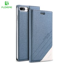 FLOVEME Magnetic Flip Leather Case For iPhone 7 6s 6 5s 5 Card Slot Wallet Cases For iPhone 7 6s 6 Plus Phone Accessories Capa(China)
