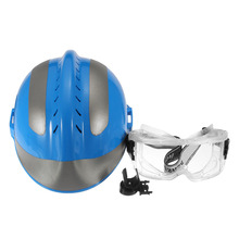 Blue Reflective Helmet Anti-Impact Rescue Helmet FireFighter With Protective Glasses Safety Protector For Fire Fighting(China)