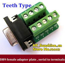 DB9 adapter plate RS232 adapter female 232 transfer terminals teeth type belt insulating mat DR9 -free solder 485 serial adapter
