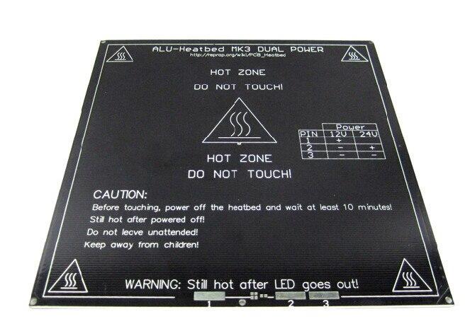 RepRap mendel PCB Heated Heatbed MK3 for Mendel 3D printer hot bed<br><br>Aliexpress