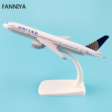 16cm Alloy Metal American Air United Airlines Airplane Model Boeing 777 B777 Airways Plane Model Airplane Collection(China)