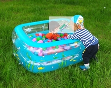 Summer Play Pool Type Inflatable Kiddie Swimming Pool inflatable rectangular kiddie swimming pool(China)