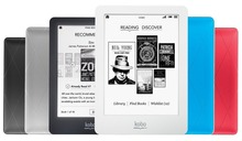 4 colors eBook Reader Kobo glo N613 e-ink 6 inch 1024x768 2GB Front-light eReader(China)