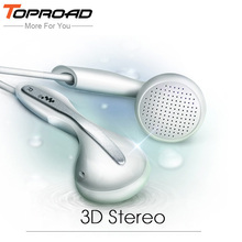 TOPROAD Bass Noise Isolating Earphone 3.5MM High Qaulity Flat Head Earbuds In Ear Headset Hifi Dynamic Earbuds Sport Headphones(China)