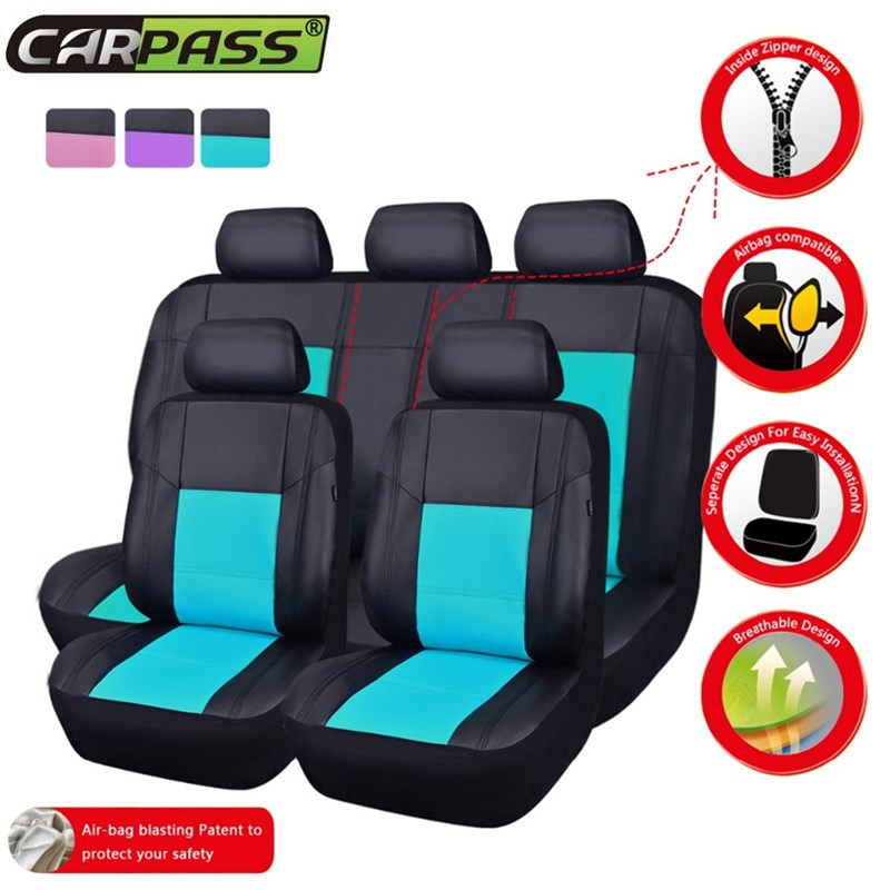 Car-pass (Front Rear PU Leather) Car Seat Cover Universal Fit for Toyota Interior Accessories Car Seat Protector For Chevrolet(China (Mainland))