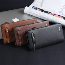 Men Wallets Top Quality Male Clutch Big Capacity Cellphone Bag Genuine pu Leather Zipper Pocket Card Holders Man Purse Long